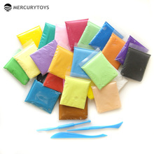 MERCURYTOYS  Light Clay 12/24 colors 24pcs 200g +FREE 50pcs Air Drying Super light colored Clay air soft Slime