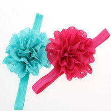 1Pc Kids Girl Headband Lace Bow Flower Hair Band Accessories Perfect New Fashion HairBand Headwear(China)