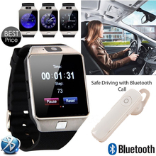 Smart Watch dz09+Bluetooth headset With Bluetooth WristWatch SIM Card Smartwatch For Ios Android Phones Support Multi languages