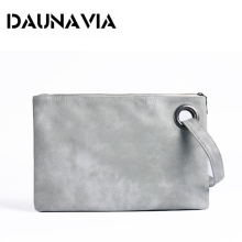 DAUNAVIA Fashion solid women's clutch bag leather women envelope bag clutch evening bag female Clutches bag free shipping ND015(China)
