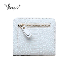 YBYT brand 2017 new fashion simple serpentine zipper short purse hotsale ladies PU leather coin purses card pack women walllet