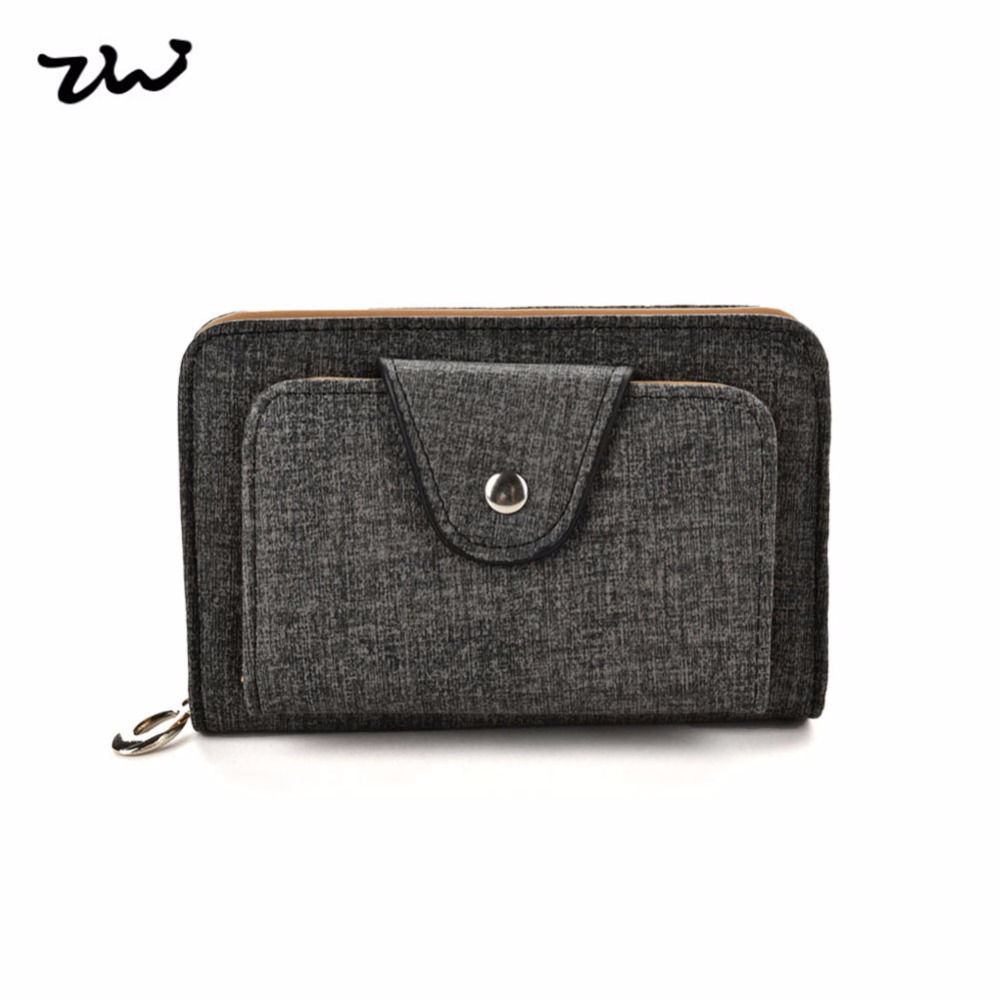 2017 ZIWI fashion short Women wallet pu leather solid color zipper hasp  closure coin purses holders  high quality VKP1499<br>
