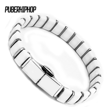 White Black Men Health Bracelets & Bangles Good Quality Stainless Steel Charm Bracelet Jewelry With Special Clasp for Man/Women(China)