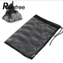Relefree Black Nylon Mesh Nets Bag Pouch Golf Tennis 48 Balls Holder Hold Ball Storage Closure Training Aid(China)