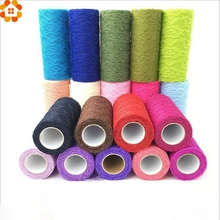15cm x 10yard Tulle Organza Roll Fabric Sheer Gauze Element For Table Runner And Home Garden Wedding Party Decoration