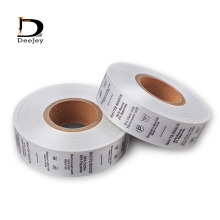 2015 care labels for clothes customized garment labels 1000pcs per roll clothing wash label instruction tag