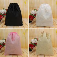 1Pcs New Waterproof Non-woven Shoes Cloth Storage Bag Travel Drawstring Bag High Quality House Storage Tools(China)