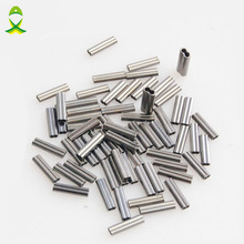 50 pcs/lot Barrel Crimping Sleeves copper double tube sea fishing wire sleeve fishing line tube inside Diameter 0.8mm-1.2mm