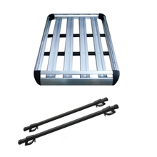 LARATH Luxury Durable 1.3m Aluminium Roof Rack Luggage Cage Basket Cargo Carrier Box For Car DHQ9756