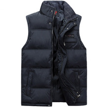 2017 Men's Sleeveless Vest Homme Winter Casual Coats Male Cotton-Padded Men's Warm Vest Photographer Men Waistcoat Plus size 4XL(China)