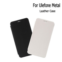 For UleFone Metal Leather Case Cover Flip With Hard Case Skin Cover for UleFone Metal Phone In 2 Colours Mobile Accessories(China)