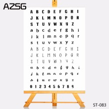 AZSG Transparent Clear Stamps Letters of Various Fonts Seal for DIY Scrapbooking Photo Album Card Making DIY Decoration Supply(China)