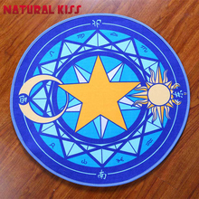 Kids Bedroom Pink Sakura Magic Circle Children Round Velvet Livingroom Carpets Cartoon Baby Crawl Area Rugs Computer Chair Mats