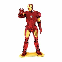 MARVEL IRON MAN,MJOLNIR,CAPTAIN AMERICA'S SHIELD,WAR MACHINE 3D Metal model NANO puzzles new styles Chinses jigsaw(China)