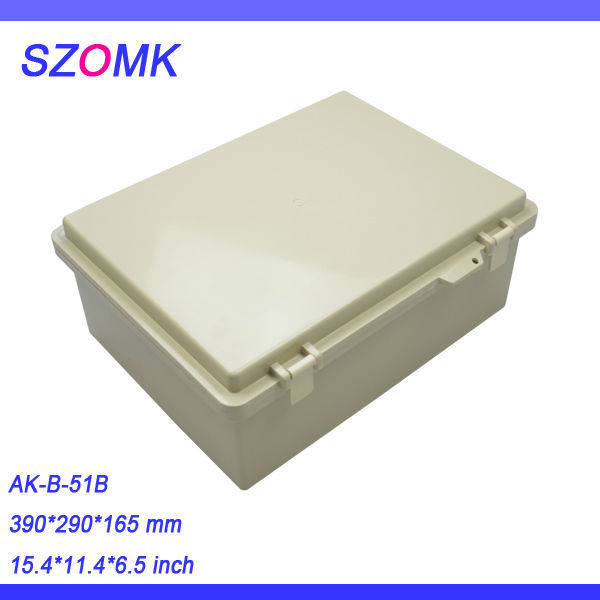 2 pcs, IP68 abs plastic waterproof enclosure boxes 390*290*165mm szomk super supplier, plastic outlet enclosure<br>
