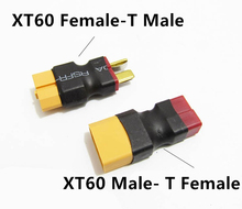 Buy 1PC RC XT60 Male/Female Deans Plug T Female/Male Connector Adapter Car Plane Helicopter Quadcopter Lipo Battery RC parts for $1.46 in AliExpress store