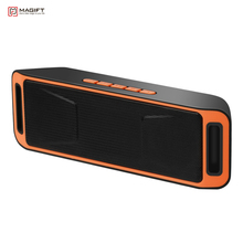 Magift Wireless Bluetooth Speaker High-fidelity Bass Sound FM Radio USB Mic TF card Function Stereo Subwoofer Dual Loudspeaker(China)