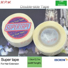 "H.P.W. 10rolls 3/4"" (1.9cm) width 30 days 3 yards(2.7m) SUPERTAPE water proof adhesive double-sided tape for wig/hair extensions"