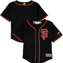 MLB Toddler San Francisco Giants Baseball Black Alternate Official Cool Base Team Jersey(China)