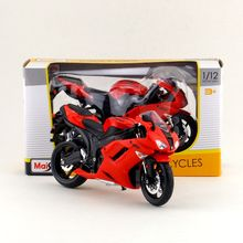 Maisto/1:12 Scale/Simulation Diecast model motorcycle toy/KAWASAKI Ninja ZX-6R Supercross/Delicate children's toy/Colllection