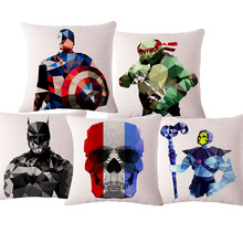 Most popular Abstract Cartoon Heros Colorful Home Decoration Cushion With No Core Car Sofa Decorative Throw Pillow Funda Cojin(China)