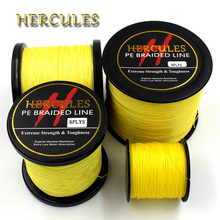 Hercules 100M 300M 500M 1000M 1500M 2000M PE Yellow Spectra 8 Strands 10lb-100lb Ocean Boat Fishing braided Fishing Line(China)
