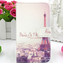 PU Leather Case Cover Card Holder Mobile phone Bag Pouch Skin Protector Flip WA For HTC Desire X / V