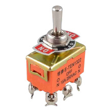AC 250V 15A Latching 3 Way On-Off-On Single Pole Double Throw Toggle Switch Orange(China)
