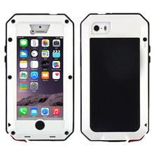 Top Water Dust Shock Resistant Metal Cover Case Skin for iPhone 5(China)