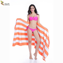 Zipsoft Large size Beach towel Microfiber 86*200cm Travel bath Drying Sports Swiming Bath body Yoga Mat Drape Stripe Flag 2017