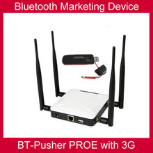 Bluetooth advertising device BT-Pusher PROE with 3G/GPRS(zero cost promote your device , your shop anywhere )cine box