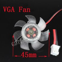 200pcs/lot 2pin 12 volt 45mm PC Computer Graphics VGA Card Cooling  Fan