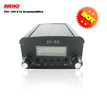 FM Radio 1w/7w stereo PLL FM broadcast transmitter for radio station whosesales Free shipping