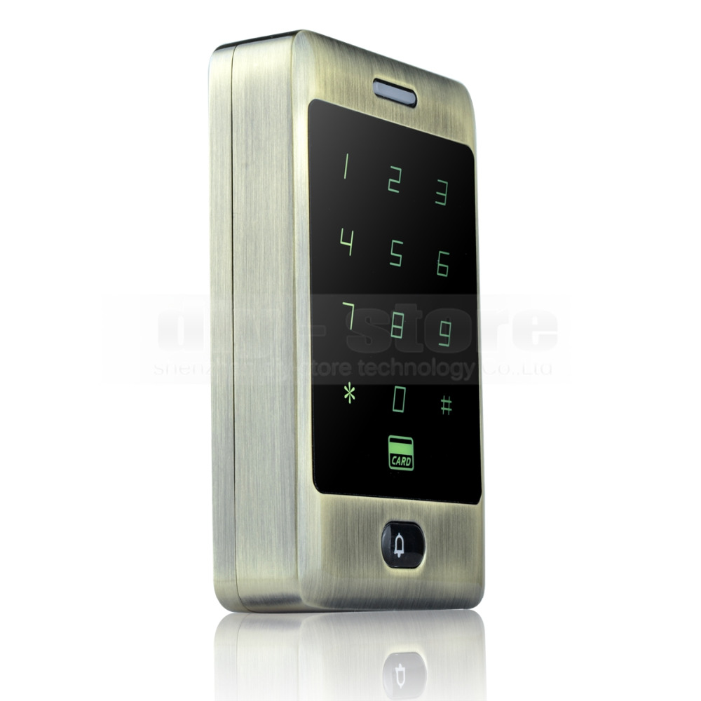 DIYSECUR 125KHz RFID Card Reader Touch Panel Backlight Access Controller Password Keypad C30<br>