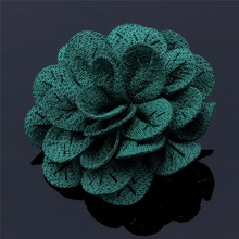 Promotional Fabric Mens Silk Flower Brooches & Pins