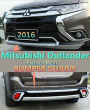 For Mitsubishi Outlander 2016 BUMPER GUARD ( Front+Rear ) ISO9001 High Quality Brand New Luxury Style Auto BUMPER Plate.HOT !!!!