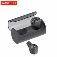 Wavefun TWS earbuds mini wireless headphones bluetooth earphone earbuds built in microphone with charging dock for phone Xiaomi(China)