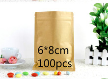 Jolly 12.9  Kraft Paper Flat Bottom Valve Bags/ Dried Fruits Food Tea Bags/ Recloseable Kraft Pack Bags Inside Aluminum Foil