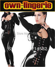 Buy Black Womens Latex Sexy Catsuit Costumes Lingerie Cat Suits Club Wear Adult Game One Size w6031