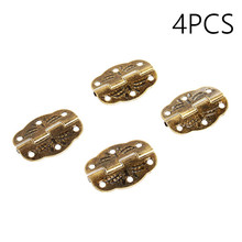 4pcs Jewelry Box Hinge Antique Hinge Packaging Accessories Oval Hinge Surface Mounted Olive Hinge 6 Hole Iron Hinges 30*22mm