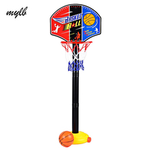 mylb Kids Outdoor Toys Basket Enfant Funny Adjustable Basketball Stand Super Sport Set Child Toy Ball with Inflator Pump
