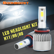 6500K 12V 2Pcs LED BOOMBOOST H1 H3 H4 H7 H11 880 9004 9007 Headlight Bulbs 72W 8000LM High Low Beam Lamp(China)