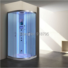 luxury steam shower enclosures bathroom steam shower cabins jetted massage walking-in sauna rooms 8062(China)