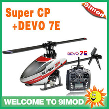 Super FP updated version!Walkera Super CP 6CH flybarless 3D mini rc helicopter with DEVO 7E RTF(China)