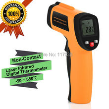 Saful HOT Non-Contact Laser Digital Thermometer -50 ~ 550 degree Infrared Temperature meter Auto Power Shut Off function(China)