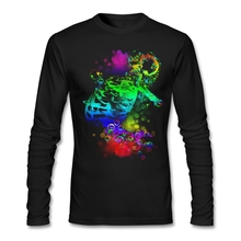 Man O Collar Winter Cloth ColorfulMen  Dancing Skeleton Softy Fabric Full Sleeves shopping t shirts online