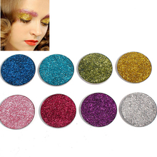 8 Colors Eye Shadow Cosmetic Round Sequins Pearl Shiny Powder Glitter Pink Gold Color Women Makeup 3.7cm Dia, 1 PC