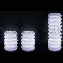 Hot puff inflatable led lamp lighting pillar column for wedding decoration