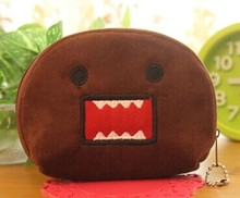Cartoon 11CM DOMO KUN Plush Storage Box Coin BAG Pouch , Hand Coin Storage Box Wallet Purse , Pocket Coin Organizer BAG(China)