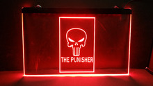 The Punisher Home Decoration Wall Decor Beer NR Bar Pub Club LED Neon Light Sign home decor crafts